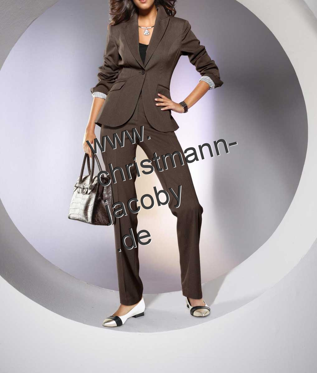 Women's suit, taupe