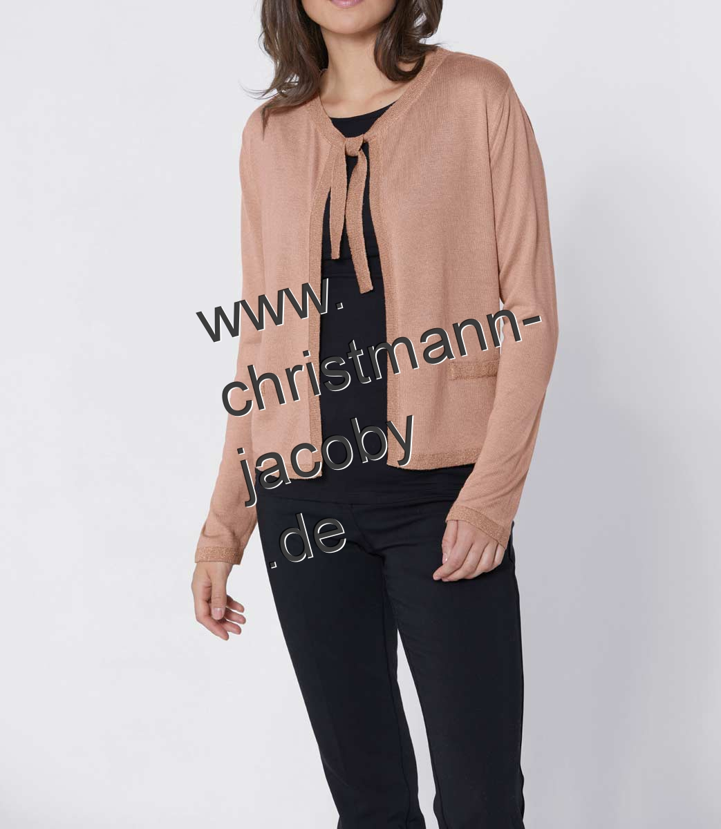 Luxury cardigan with silk, nude