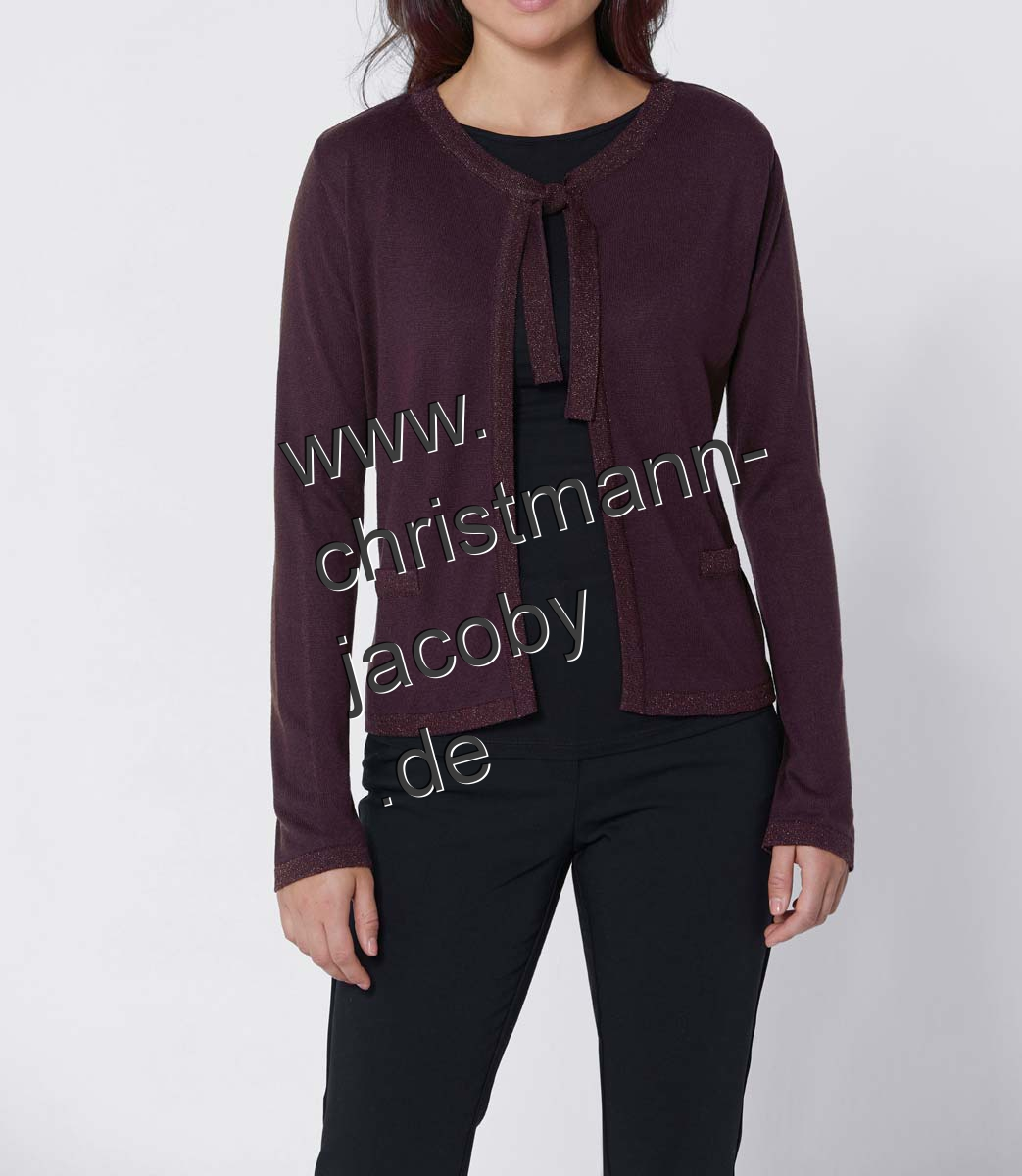 Luxury cardigan with silk, bordeaux