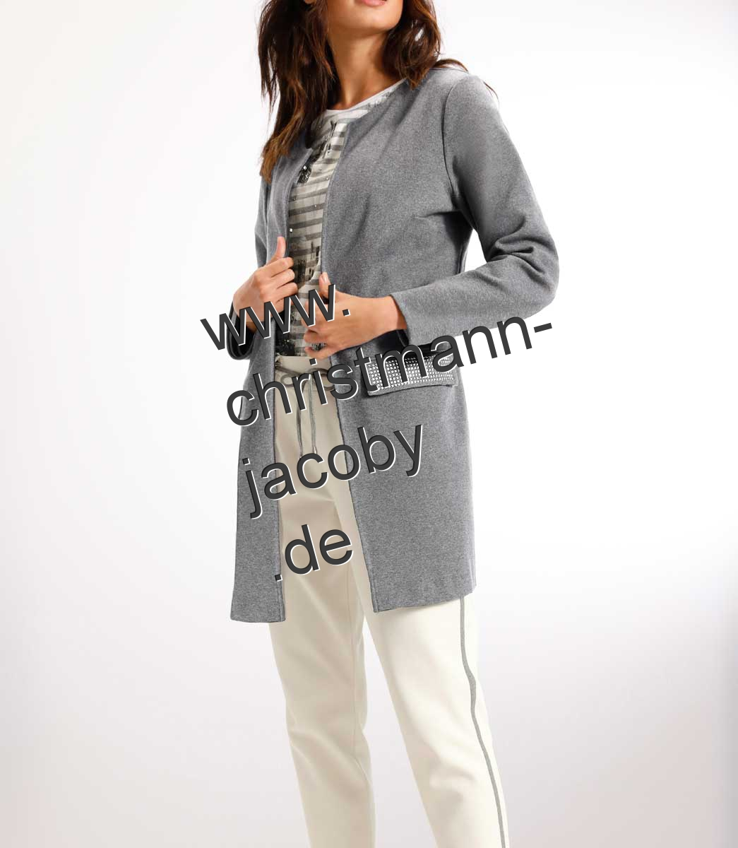 Long blazer, grey blend