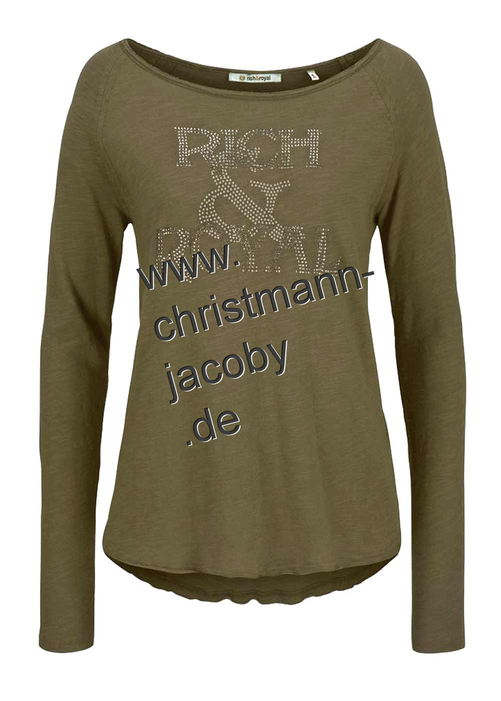 Shirt with strass, olive